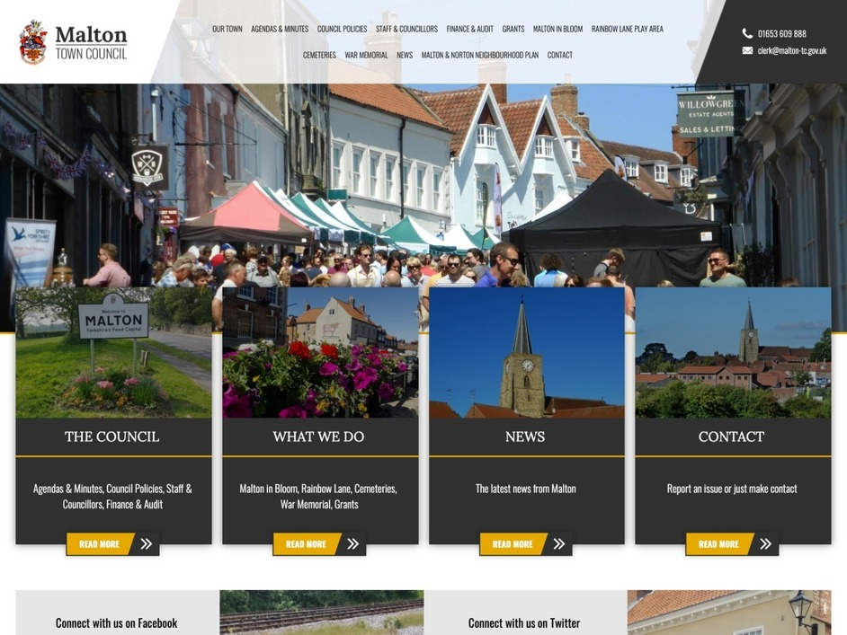 The Malton town council website, created by it'seeze