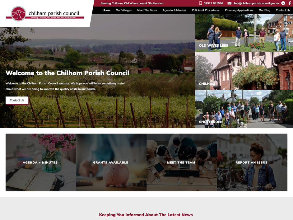 The Chilham parish council website, created by it'seeze