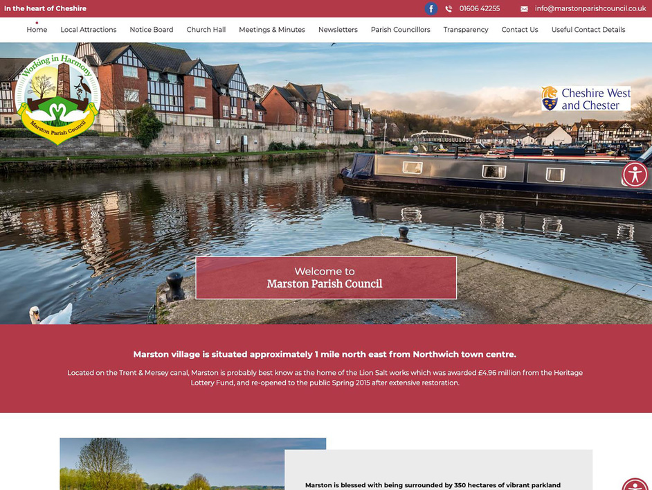 The Marston parish council website, created by it'seeze