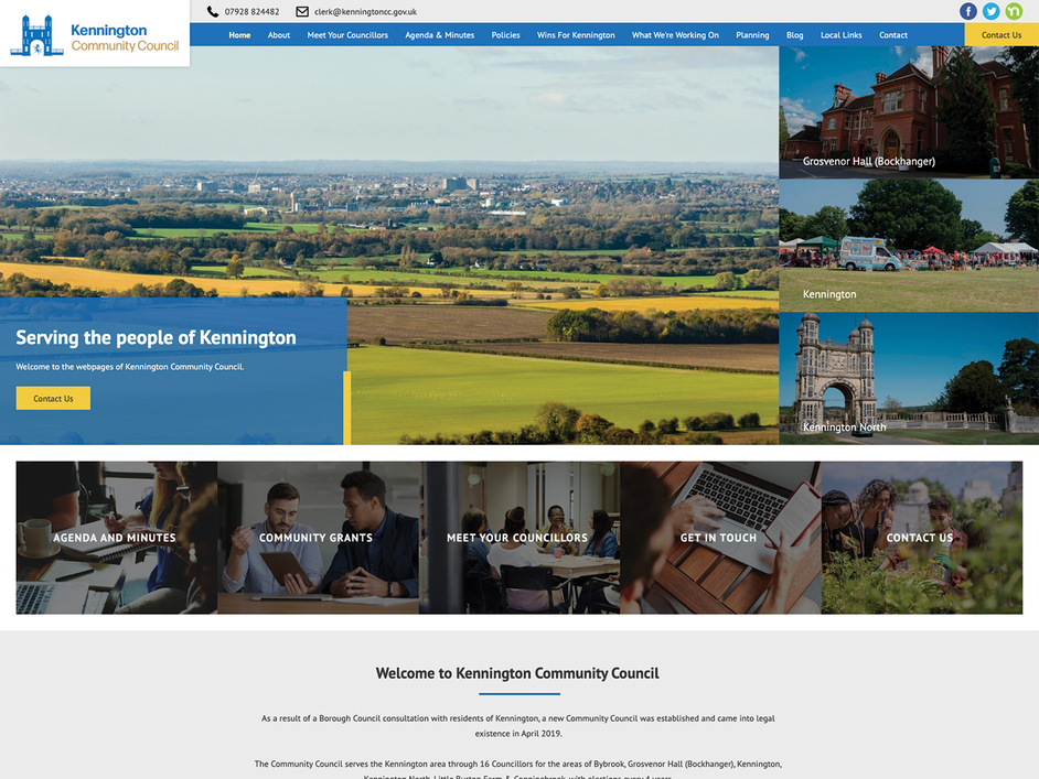 The Kennington community council website, created by it'seeze
