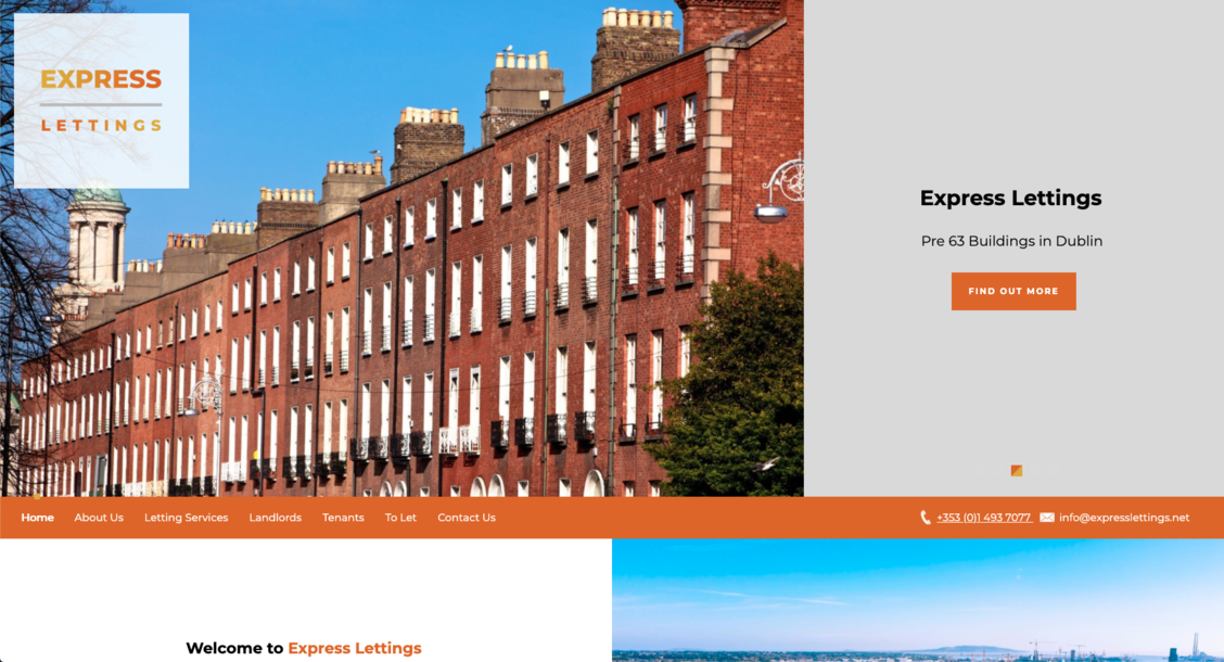 The new Express Lettings website from it'seeze