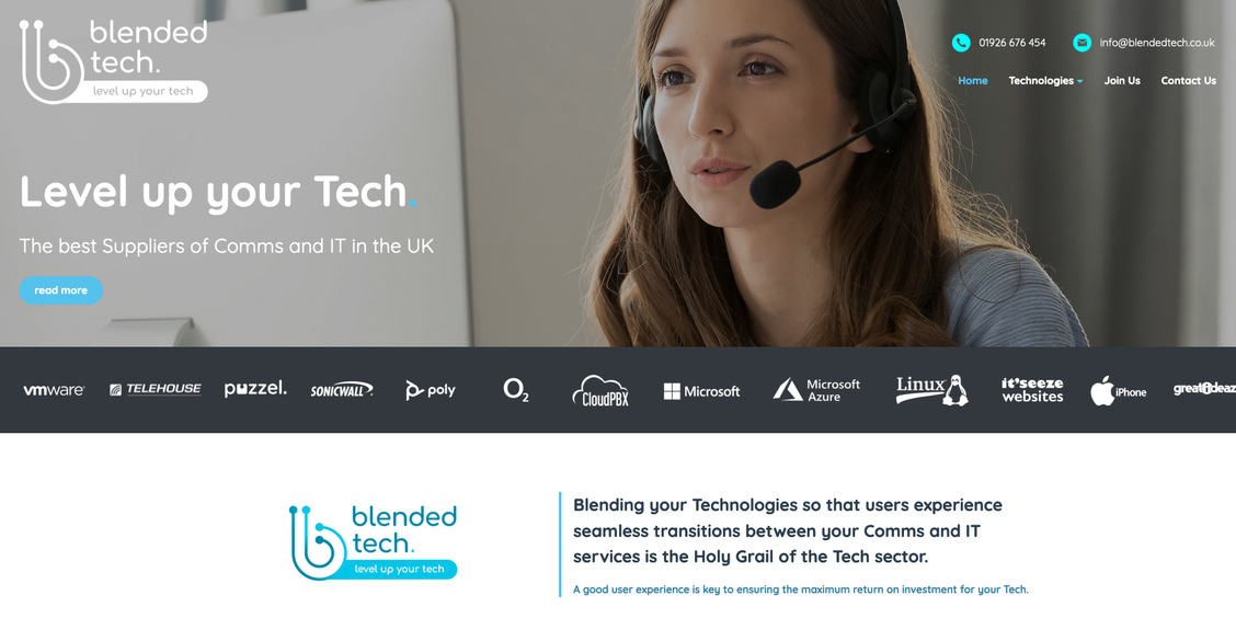 The new Blended Tech website from it'seeze