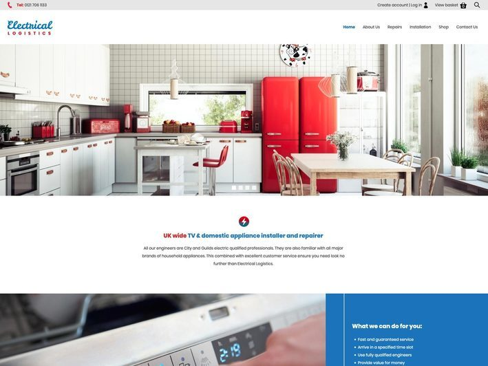 The Electrical Logistics website created by it'seeze