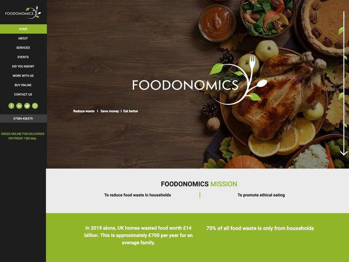 The Foodonomics website created by it'seeze