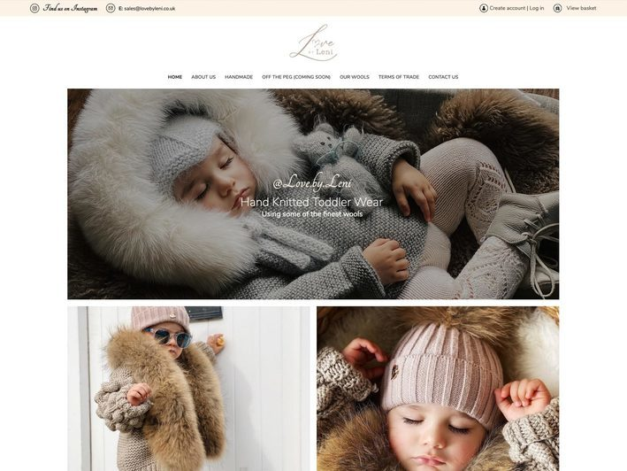 The Love By Leni website created by it'seeze